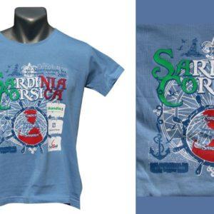 Nadruk na koszulce niebieskiej