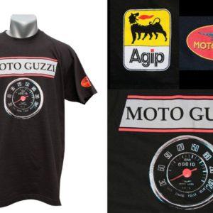 Moto Guzi na czarnej koszulce